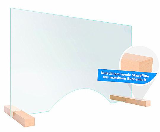 Hygieneschutz Spritzschutz Echtglas